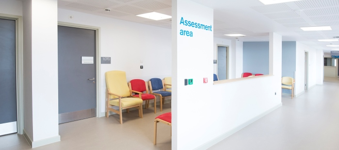 Reception area for the Pre-operative assessment area at the New QEII Hospital