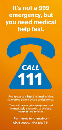 NHS 111 - The NHS non-emergency number